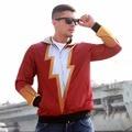 2016 Marvel Super Heroes Косплей Костюм С Капюшоном Двойной Слой Верхней Одежды Куртки Пальто Человек Толстовка Спортивной