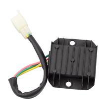 GOOFIT Motorcycle Male Plug 4 wire Voltage Regulator for GY6 150cc & CG 125cc-250cc ATV Dirt Bike Moped H055-013