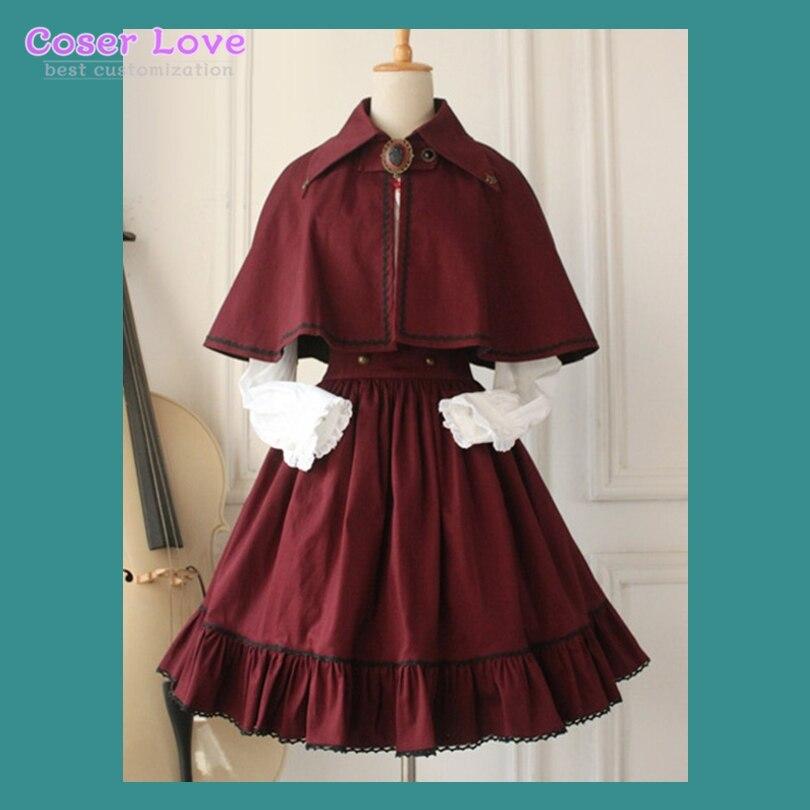 Gothique Lolita robe croix régression victorienne Vintage SK Lolita jupe