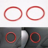 2Pcs Set Interior Car Door Speaker Loudspeak Hi End Design Ring Sticker Decoration Cover Trim Styling