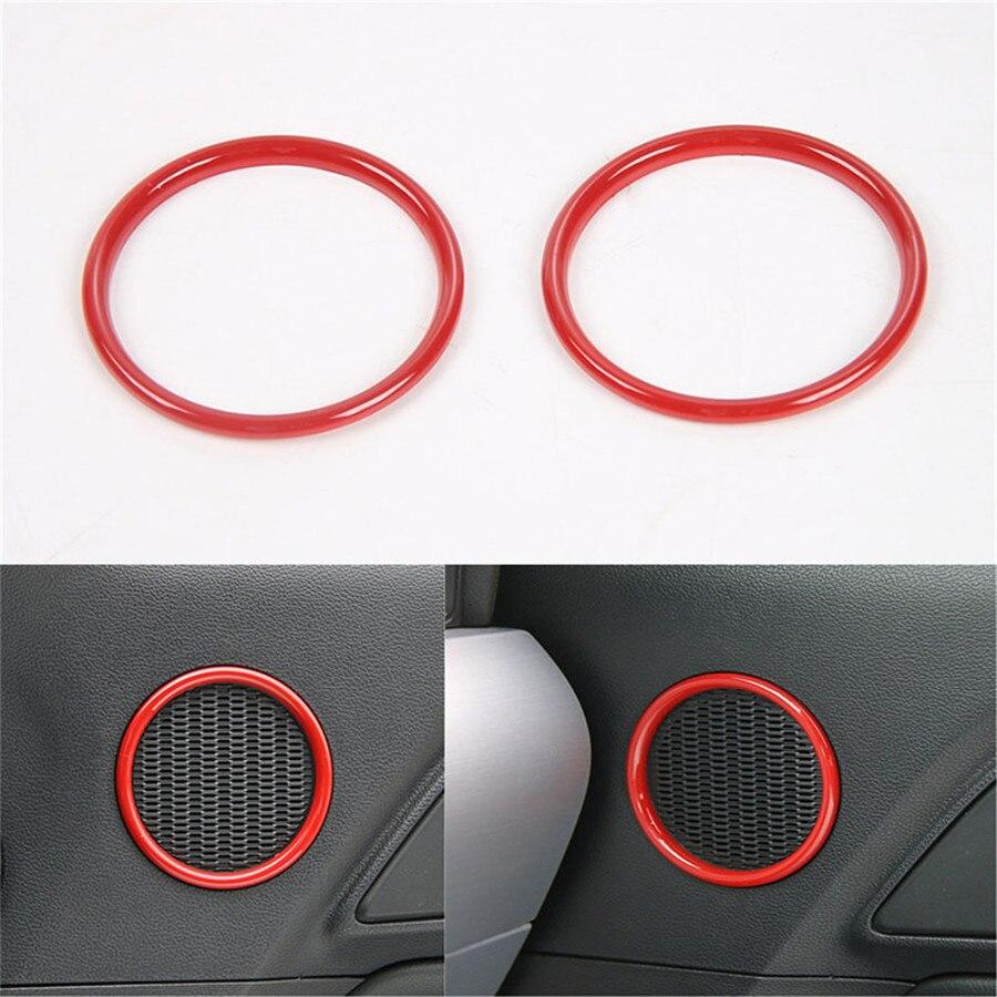 Yaquicka 2 pcs ensemble int rieur voiture porte haut parleur anneau autocollant d coration couverture garniture