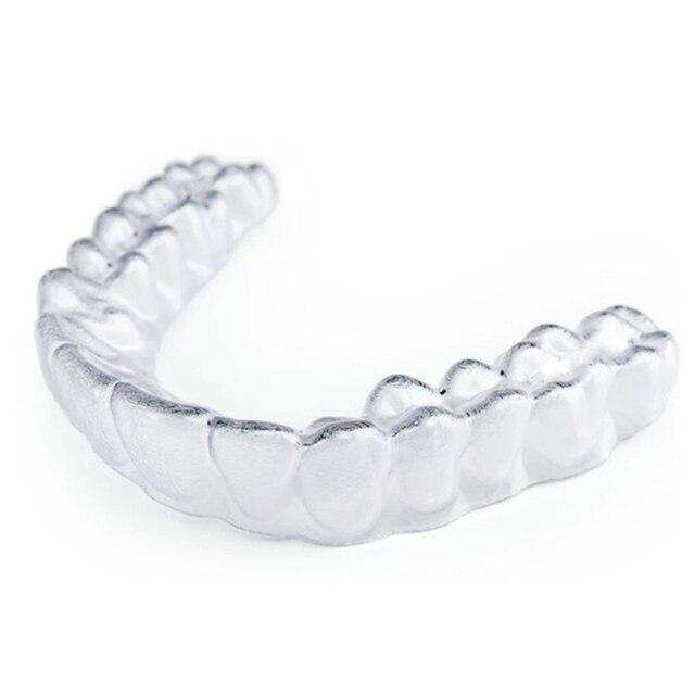 2 piezas blanqueamiento de dientes bandejas de termoformado protector bucal blanqueo blanqueador de dientes boca Dental Brace higiene Oral herramienta de cuidado