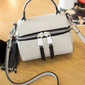 2016 New Fashion Style Small Women Tassel Handbags High Quality Solid Women Shoulder Bags PU Leather Messenger Bags For Girls