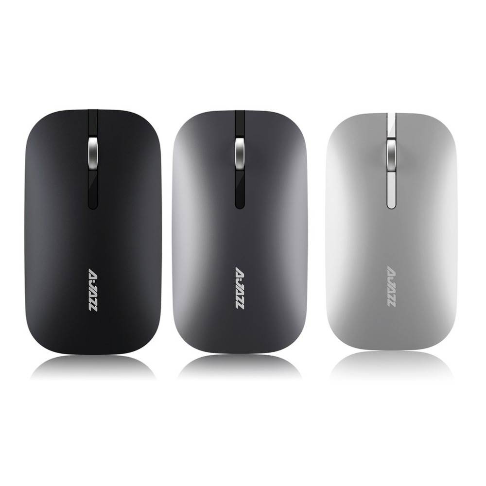 Ajazz Super Thin Wireless Bluetooth Dual Mode Mouse Comfortable Durable Endurance Optical Mouse for Computer PC Office Use