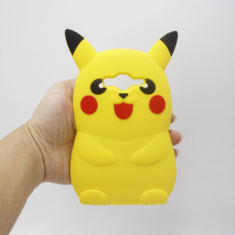 New Phone Case For Samsung Galaxy J1 Mini J2 J3 J5 J7 A3 A5 2016 3D Cartoon Pikachue Soft Silicon Rubber Cover Capa Para Fundas