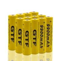 2 40 40 marca nova bateria de 18650 3.7 v 9900 mah bateria de ons de ltio reencarvel para lanterna led 18650 bateria
