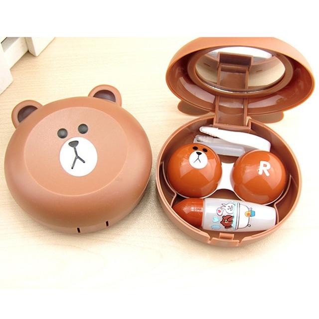 Контактные линзы Box милый мультфильм панда унисекс контейнер для контактных чехол для объектива