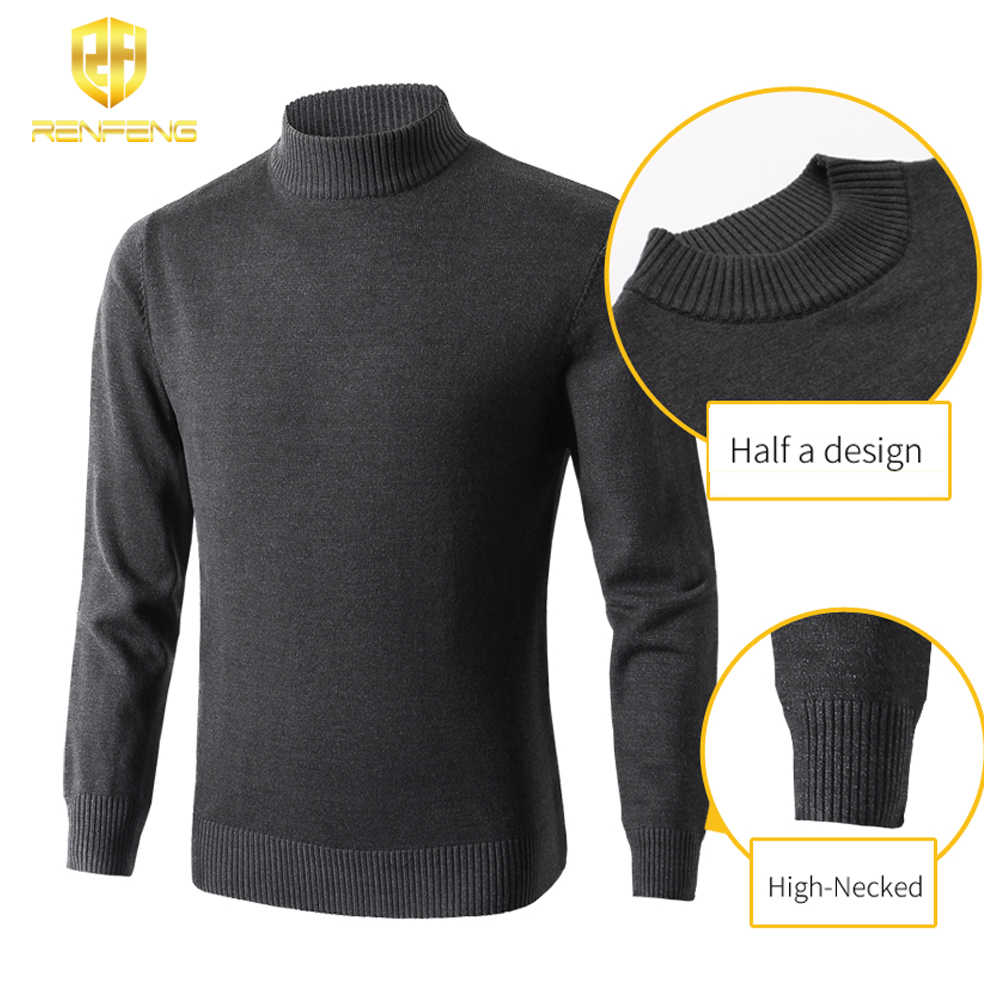 Christmas Sweaters For Men.Christmas Sweater Men Pullover Long Sleeve Thicken Fashion Clothes 2019 Sweaters Turtleneck Mens Winter Knitwear For Male Jumper