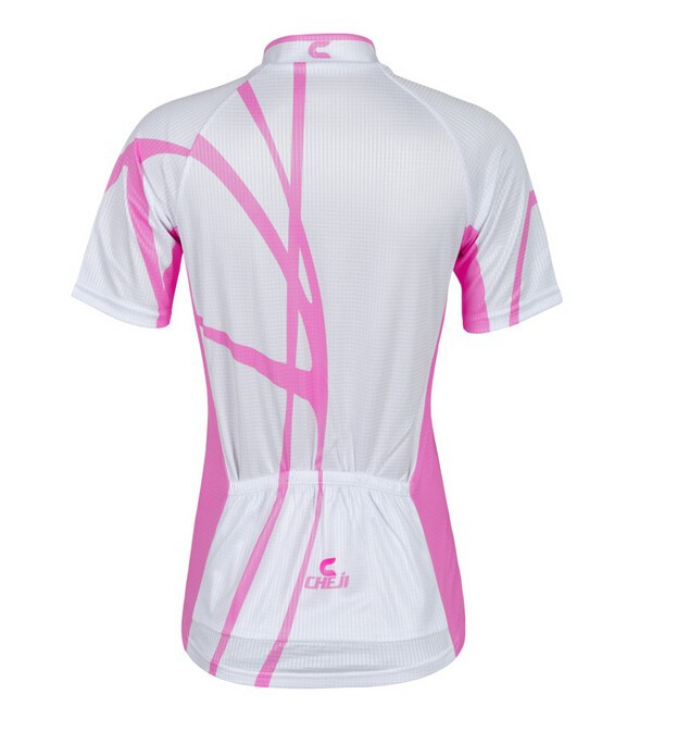 New-Pink-White-Cycling-Wear-Team-CHEJI-Women-Cycling-Jersey-Short-Sleeve-Pants-Girl-s-Fashion (3)