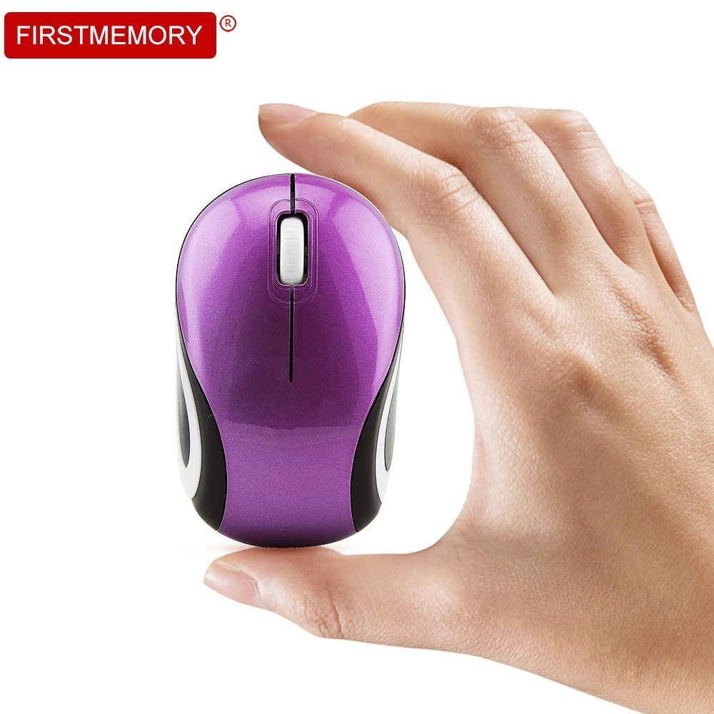 Mini Wireless Mouse For Kids Optical Computer Mause Ergonomic 3D 1600 DPI Portable Mice With USB Receiver For PC Laptop Desktop