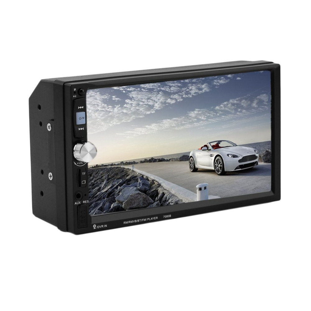 7080B 7 Inch New Car Video Player with HD Touch Screen Bluetooth Stereo Radio Car MP3 MP4 MP5 Audio USB Auto Electronics Hot 7023b 7 inch car 2din touch screen auto radio video audio mp4 mp5 player 1080p hd tft bluetooth fm usb aux rear view camera