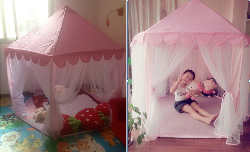 2016 childrenu0027s birthday Shower gifts playground princess play house pink kids girl teepee tents play tents with mosquito net-in Mosquito Net from Home ...  sc 1 st  AliExpress.com & 2016 childrenu0027s birthday Shower gifts playground princess play ...