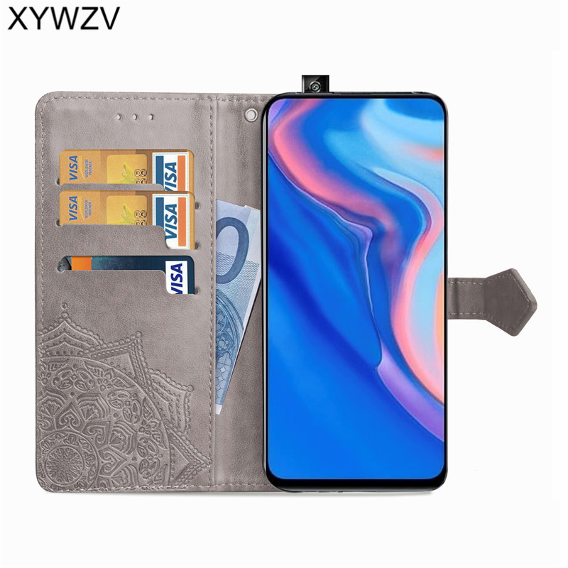 Image 2 - Huawei Y9 Prime 2019 Case Shockproof Popular texture Soft Silicone Phone Case Card Holder Fundas For Huawei Y9 Prime 2019 Cover-in Flip Cases from Cellphones & Telecommunications