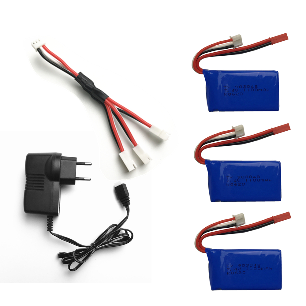 3pcs 7.4V Wltoys A949 A959 A969 A979 K929 LiPo Battery 1100mah Lipo Battery 7.4V For Wltoys a959 RC Helicopter Airplane Car Boat mos rc airplane lipo battery 3s 11 1v 5200mah 40c for quadrotor rc boat rc car