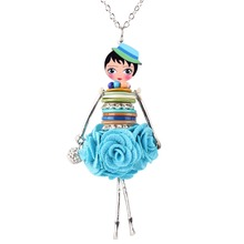 'Lady in Flower Dress' Pendant Necklace