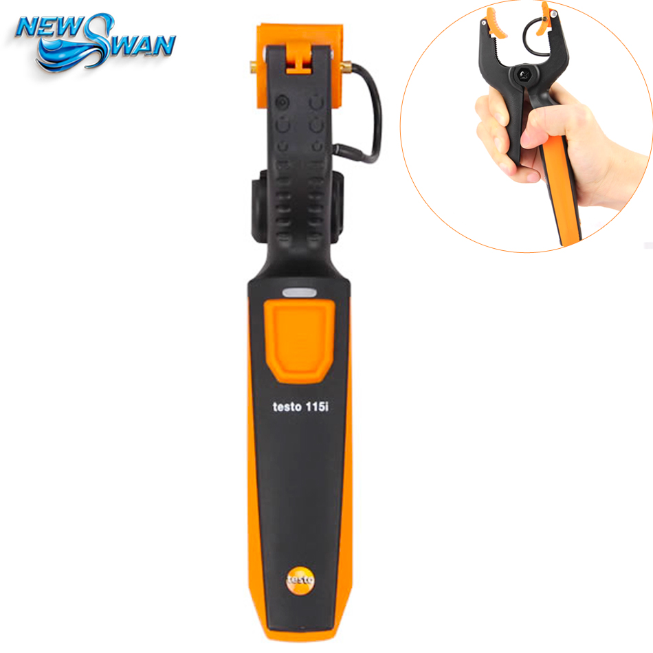Testo 115i Clamp Infrared Thermometer Detector High Precision Temperature Meter Instrument with Smartphone Operation testo 550 1 refrigeration manifold kit 0563 5505 with 1 clamp probe surface temperature measurement