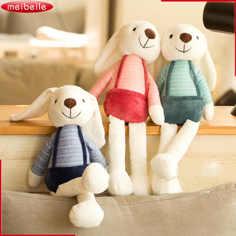 New Arrival ! 40/50/60cm Cute Bunny Rabbit Hare Stuffed Animals Plush Doll Toy Gift Kawaii Plush Toys for Children Kids Pillow 60cm new queen couple rabbit plush toy of peter rabbit doll wearing glasses rabbit doll valentine s day gift