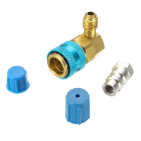 Aluminum Low R134A Quick Coupler Adapter 600PSI Car Oil & Dye Injector Connector Car Air conditioning Installation
