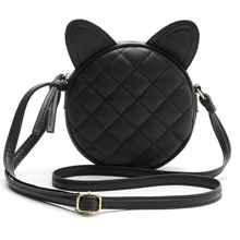 Dropshipping Women Bag Fashion Messenger Bags Cat Ear Female Crossbody Shoulder Bag High Quality Qrid Women Handbag For Girl