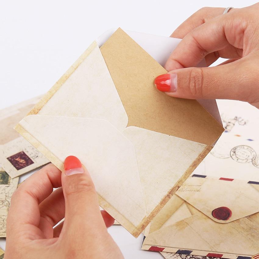 12PCS/lot Mini Cute Kawaii Paper Envelope Retro Vintage European Style For Card Korean Stationery