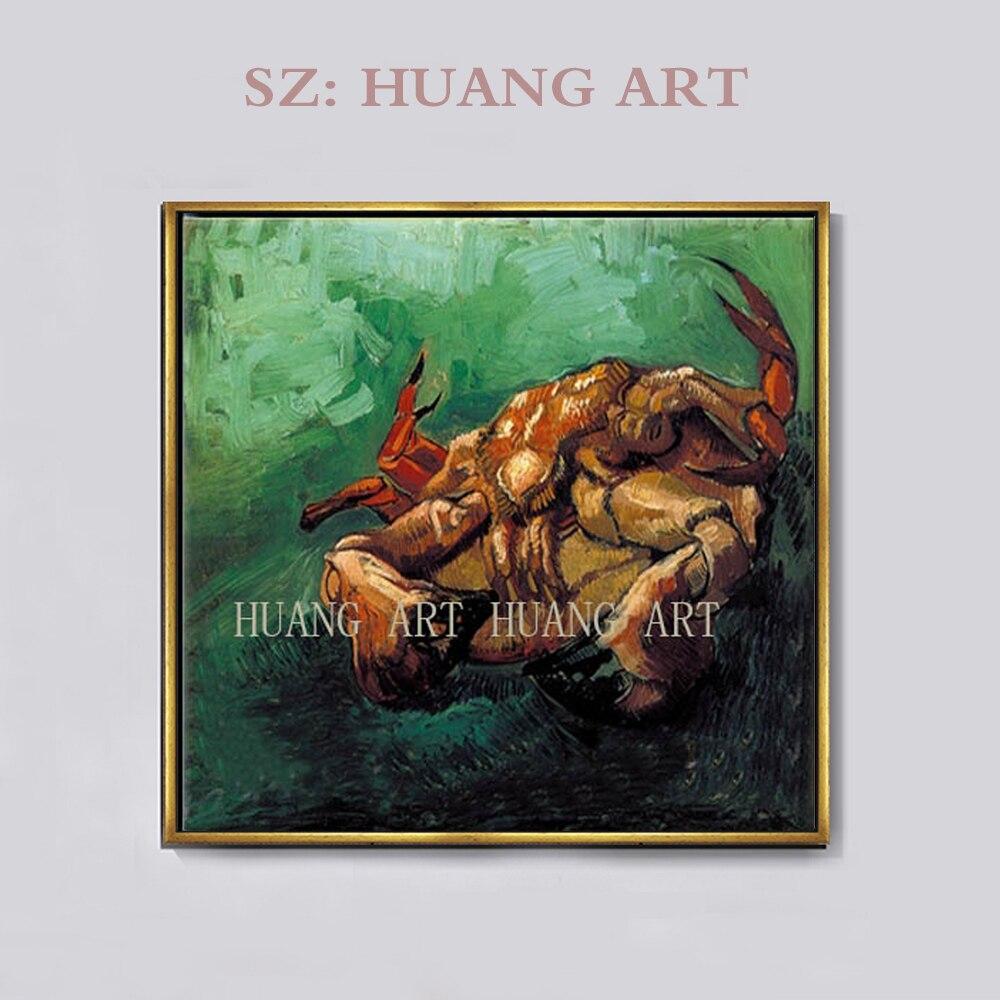 Animal affiche abstraite aquarelle homard et crabe cerf mur Art toile peinture pour maison bureau Restaurant décor mural livraison directe