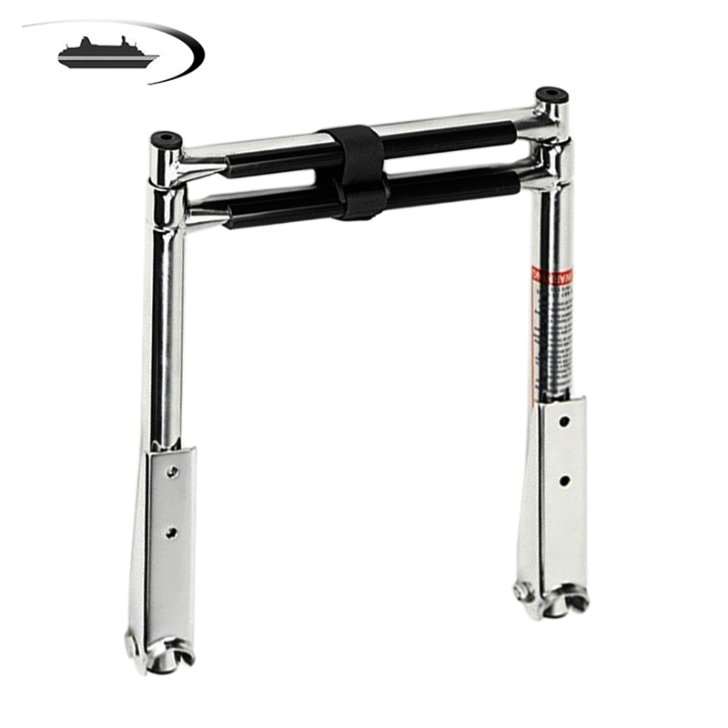 2 Steps Stainless Steel Telescoping Ladder Deck Outboard
