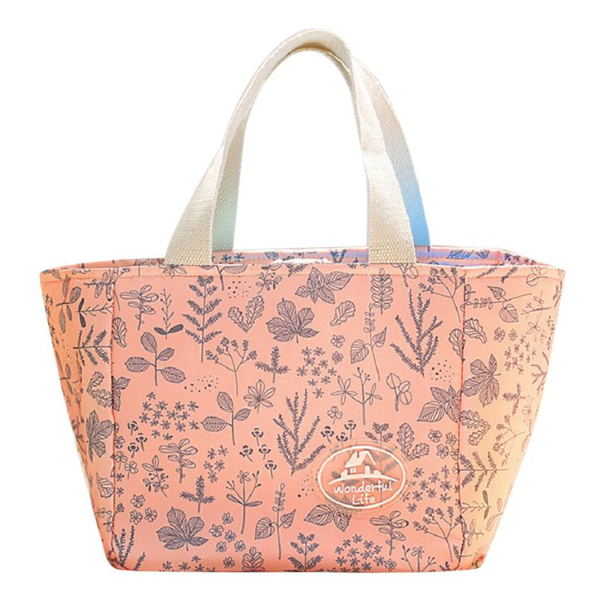 Cooler Lunch Box Insulation Bag Bolsa Termica Printing Floral Thermal Insulated Lunch Bag For Women Girls Portable Carry Tote #1