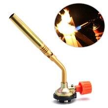 Бутан газовая паяльная лампа огнемет Кемпинг горелка для барбекю инструмент латунь выпечки удобный HTQ99
