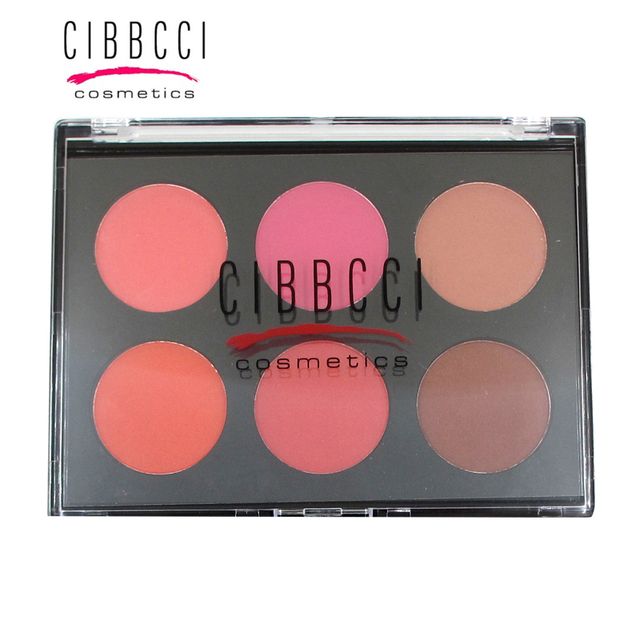CIBBCCI 6 color blush Palette Natural long-lasting,Easy to Wear Cosmetic Brighten Makeup Face Blush beauty Cosmetic