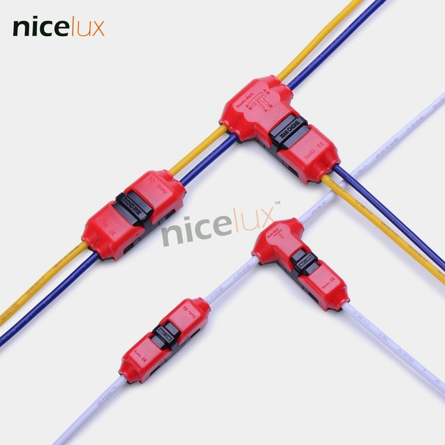 5pcs quick splice scotch lock wire wiring connector for 1 pin 2 pin rh aliexpress com scotch lock wire connector demonstration Wire Nut Connectors