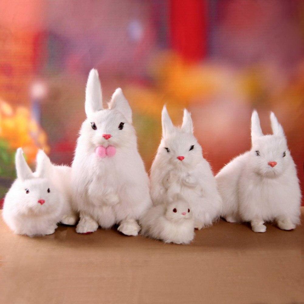 Cute Animal Bunny Simulation Furry Squatting Rabbit Birthday Gift
