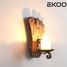 EKOO E14 PIE forma Retro Industrial rústico estilo pared luz mármol lámpara titular