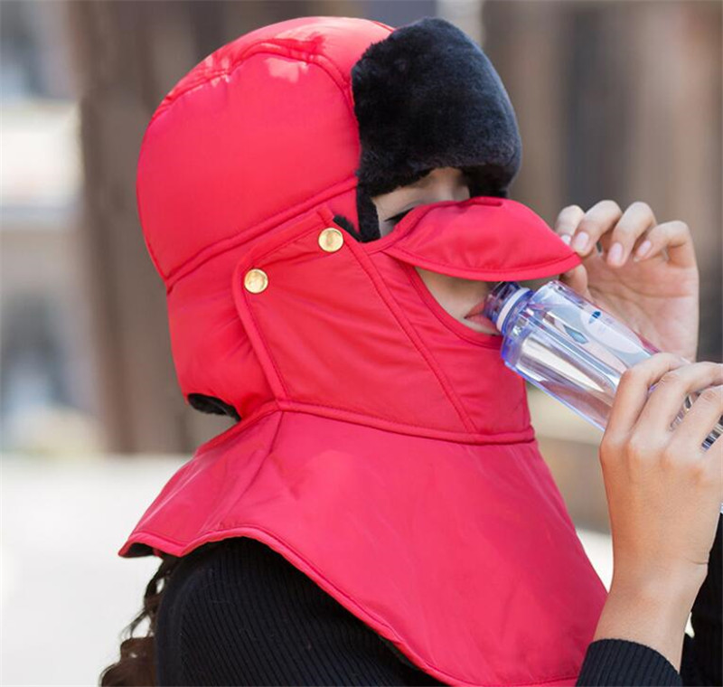 Winter Warm Earflap Bomber Hats Caps Scarf Men Women Trapper Thermal Hat Trooper Earflap Snow Ski Hat CapFack Mask in Motorcycle Face Mask from Automobiles Motorcycles