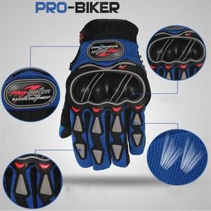 Image 4 - 革手袋のオートバイの手袋オートバイモトクロスバイク乗馬通気性男性女性フルフィンガータッチスクリーン手袋
