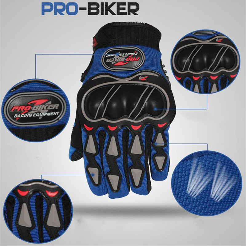Image 4 - Leather Gloves Motorcycle Gloves Motorcycle motocross Bike Riding breathable Men Women Full Finger Touch Screen Gloves-in Riding Gloves from Sports & Entertainment