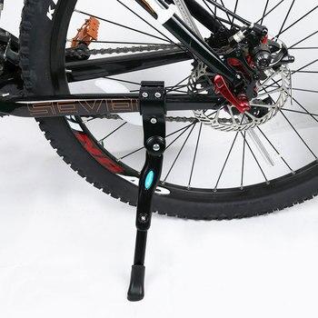 Soporte de pie para bicicleta de montaña, soporte trasero para bicicleta de montaña, soporte lateral de aleación de aluminio para bicicleta de montaña MTB