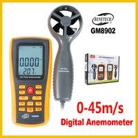 Digital Anemômetro Velocidade Do Vento Medidor de Fluxo de Ar de Medição Testador 0 ~ 45 GM8902-BENETECH m/s com USB handheld anemômetro termômetro
