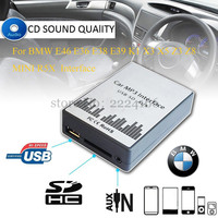 SITAILE USB SD AUX car MP3 music playerr CD Changer Adapter for BMW E39 X3 X5 Z4 Z8 MINI R5x 10PIN 12PIN Interface Car styling