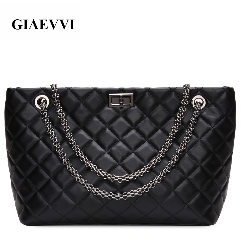 GIAEVVI luxury High quality leather women messenger bags Autumn new handbags Casual woman shoulder bag crossbody Shopping bag giaevvi luxury handbags split leather tote women messenger bags 2017 brand design chain women shoulder bag crossbody for girls
