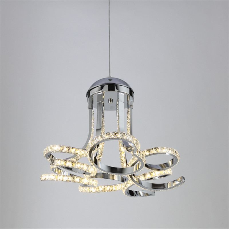 Simple Living Room LED Chandelier Modern Dining Room Bedroom Restaurant Lamp Crystal Flower Shape Decoration Light Free Shipping цена и фото