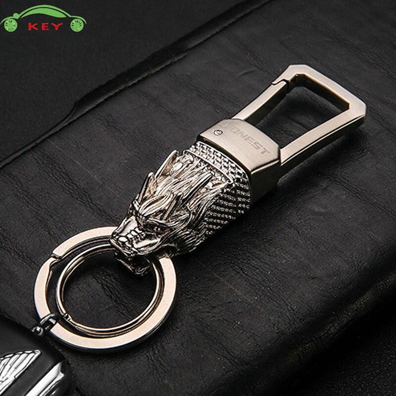 Upscale Car Dragon Head Keychain Auto Men Keyring For Mazda Infiniti BMW Mercedes BENZ Cadillac Citroen Toyota Yamaha Volvo MG