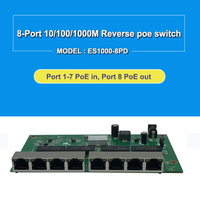 GPON EPON SOLUTION SUPPLIER 8 Port Gigabit WEB Managed Reverse PoE Switch pcb board Support VLAN IGMP