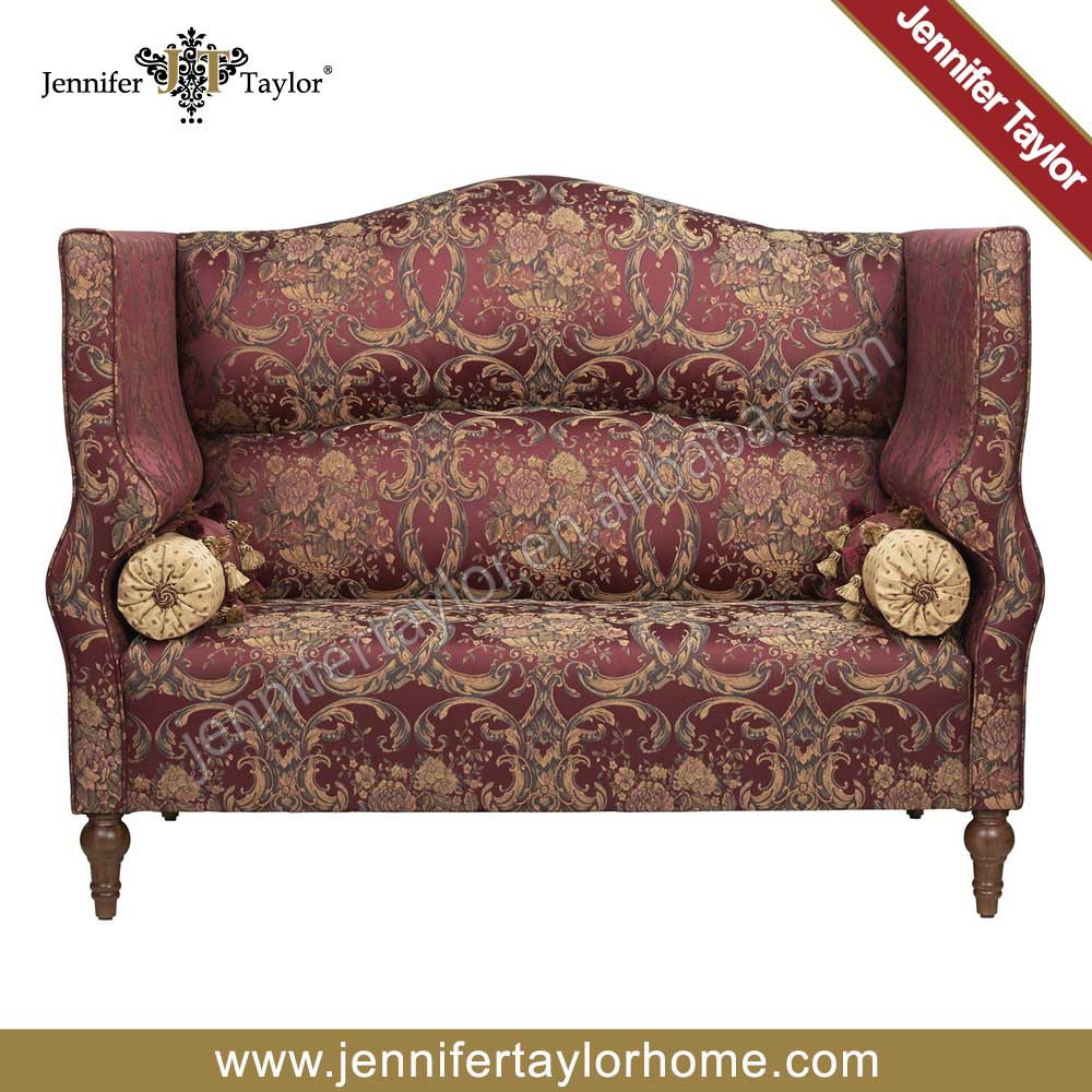 Red Color Loveseat  Seater Sofa With Bolster Living Room Sofa - Livingroom bench
