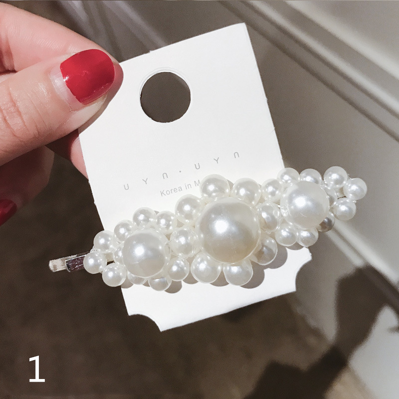 Fashion Pearl Metal Hair Clip For Women Elegant Design Hairpin Hair Styling Accessories Water Drop Beauty Styling Tools