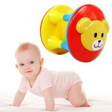 Children's educational fun double-headed bear bells ball development baby intelligence training grip toy(China)