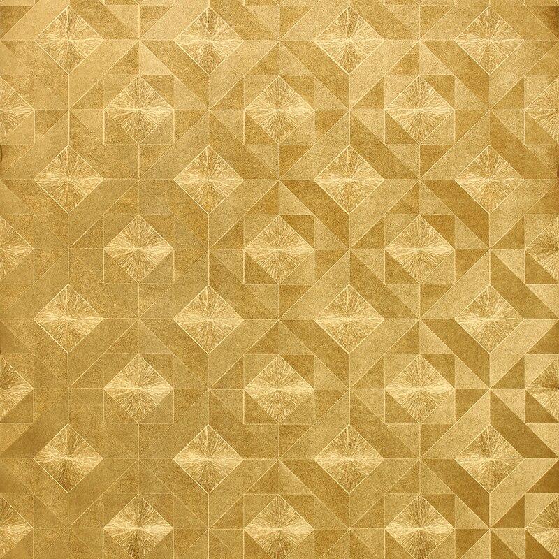 Gold Foil Flower 3d Relief Wallpaper Gold Mosaic Wallpaper