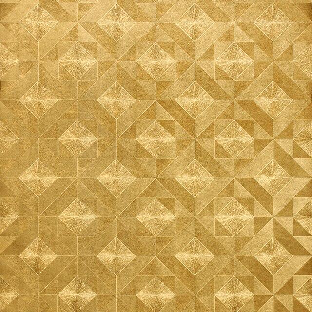 4b8e9b3958 Lamina d'oro Fiore 3d Rilievo Carta Da Parati Oro Mosaico di Mattoni Carta  Da