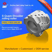 Indexable milling cutter with 90degree PE02.11B32.080.05/EMP03-080-B32-AP11-05 Matched carbide insert APKT11T3 at SANT company