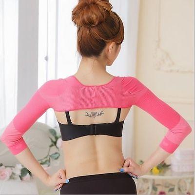 New Women Slim Arm Correct Back Posture Humpback Prevent Long Sleeve Shaper