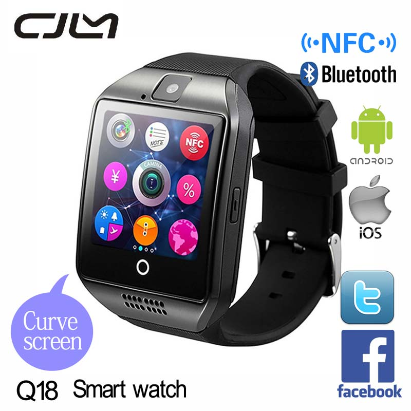 Cjlm SmartWatch Q18 Apro Android Smart watch Support TF SIM Card NFC Camera Bluetooth Montre Connecter